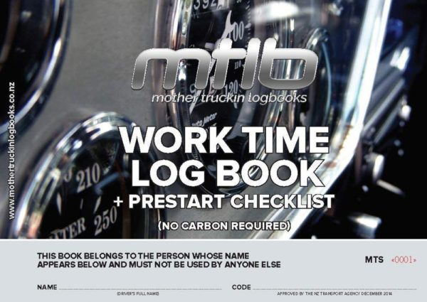 MTS - A4 Size Worktime Logbook And Prestart Checklist