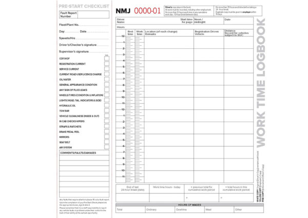 NMJ Worktime logbook